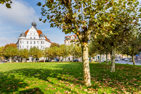 Dortmund, North Rhine Westphalia, Germany - October 19, 2018: Borsigplatz Innstadt-Nord in Dortmund Germany.  is famous for being the birthplace of football club Borussia Dortmund. Stockfoto - 111431806