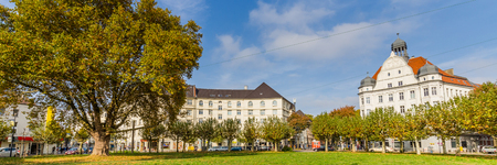 Dortmund, North Rhine Westphalia, Germany - October 19, 2018: Borsigplatz Innstadt-Nord in Dortmund Germany.  is famous for being the birthplace of football club Borussia Dortmund. Stockfoto - 111431808