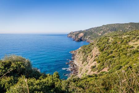 North West coastline between Bosa and Alghero, Sardinia island. Italy