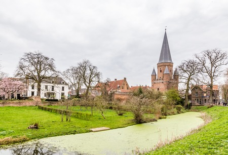 Cityscape of Zutphen with Drogenaps tower, a medieval city along the river IJssel in Gelderland in the Netherlands Stockfoto