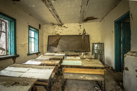 Abandoned school in Belarus Chernobyl exclusion zone, recently opened for the public from april 2019.