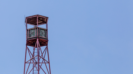 Watch tower in Belarus Chernobyl exclusion zone,