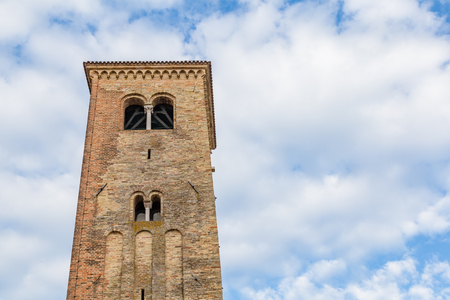 Ancient catholic church in the archeological center of Concordia Sagittaria in Veneto, Italy