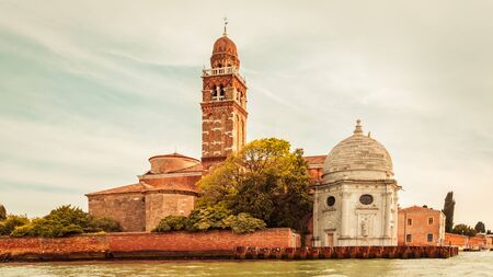 Cemetery island with the church of San Michele in Isola, Venice, Italy