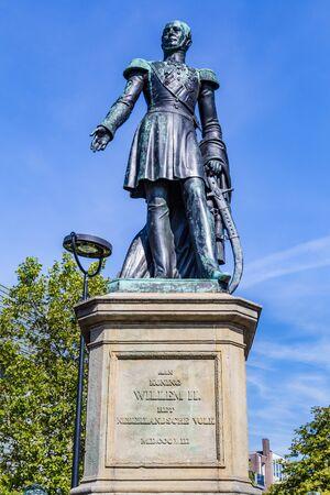 Tilburg Netherlands - September 10, 2019: Statue in Tilburg of William II (1792-1849) King of the Netherlands Editorial