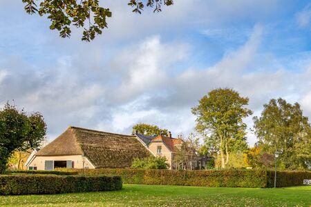 Traditional Dutch farm house in Windeshiem near Zwolle, Overijssel in the Netherlands