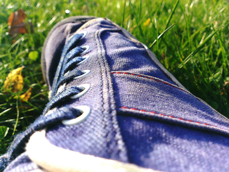 Jeans shoes with fabric made of denim