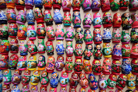 russian nested dolls: It is a set of Russian Nested dolls for a background