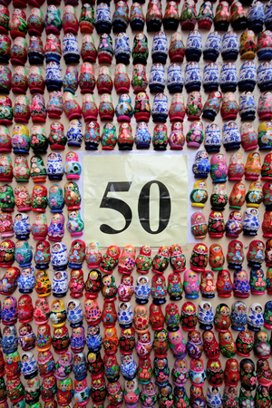 russian nested dolls: It is a set of Russian Nested dolls - all on 50