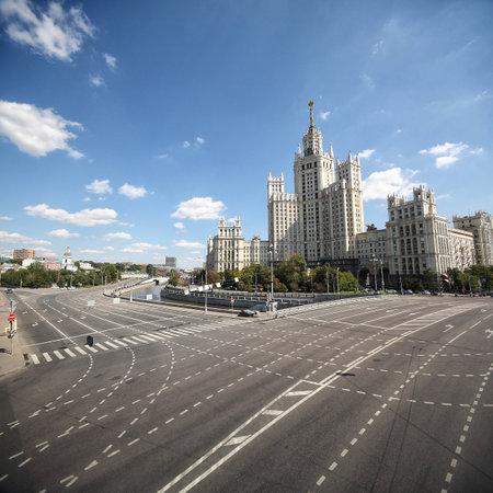 kotelnicheskaya embankment: Kotelnicheskaya Embankment Building on the Yauza River in Moscow.