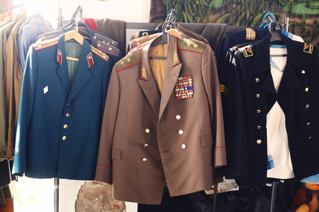 major battle: Soviet military uniform of the general, officers, soldiers and sailors.