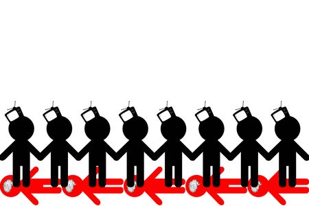 waste recovery: TV - Zombiing of people. Influence of promotion of mass media on the identity of the person. Stock Photo