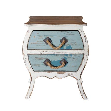 Vintage Furniture - Retro desk Nightstand on a white background