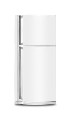 Groot apparaat - de koelkast koelkast op een witte achtergrond. Geïsoleerd