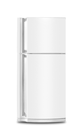Major appliance - The Refrigerator fridge on a white background. Isolated