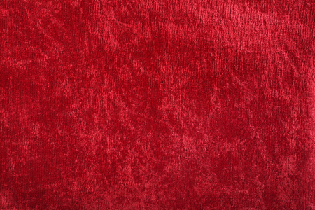 Backgrounds and Textured - Red plush textile background.