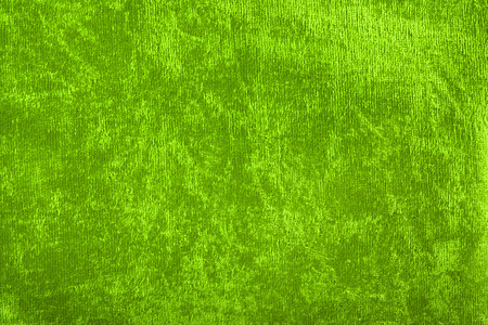 Backgrounds and Textured - Green plush textile background. Stock Photo