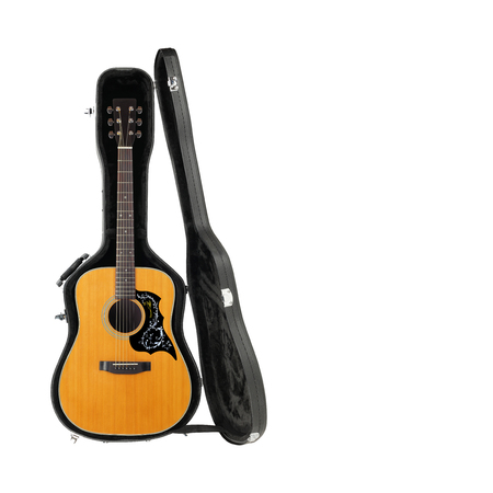 Musical instrument - Acoustic guitar hard case isolated on a white background. 写真素材
