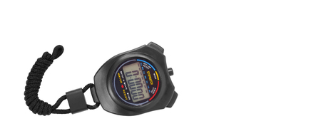 Sports equipment - Black Digital electronic Stopwatch on a white background. Isolated Imagens