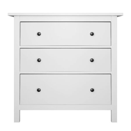 House furniture - Modern small commode isolated white background.