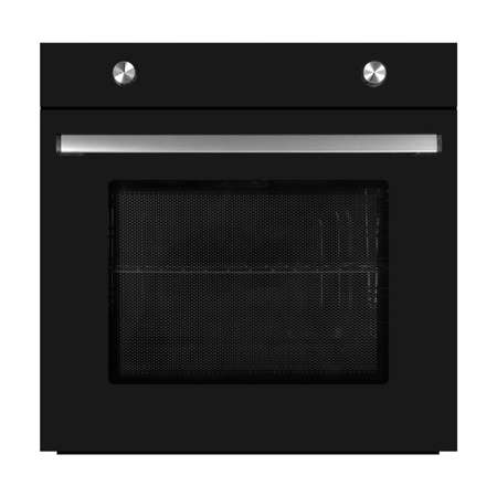 Household appliances - Black electrical oven isolated on a white background. 免版税图像