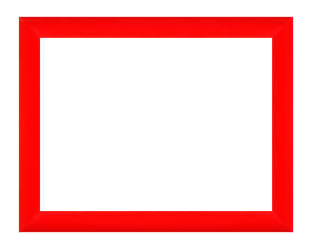 Frames and borders - Red modern frame for photos on a white background. Isolated. 免版税图像