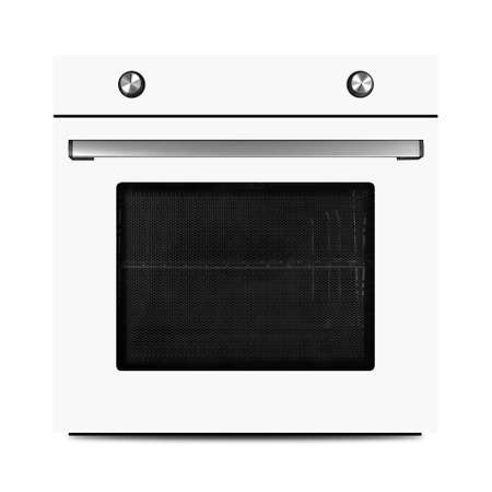 Household appliances - White electrical oven isolated on a white background.
