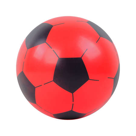 Toys - Red and black ball. Isolated on an white background 免版税图像