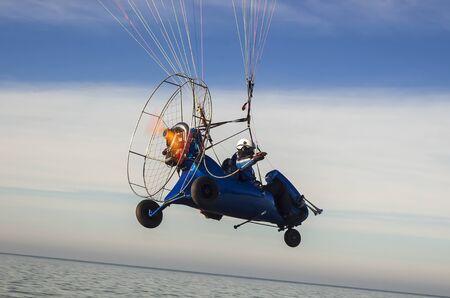 paraglider: PARAGLIDER Stock Photo