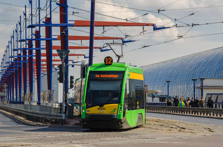 poznan: POZNAN - PUBLIC TRANSPORT - TRAM - LANDSCAPE CITY Editorial