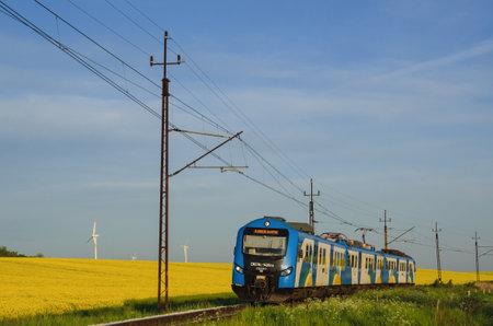 rail travel: Railway transport - Passenger train - Riding a modern passenger train