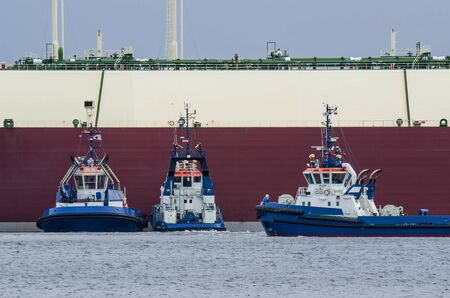 lng: Tugs and LNG Tanker - In the port of Swinoujscie tugs and LNG Tanker