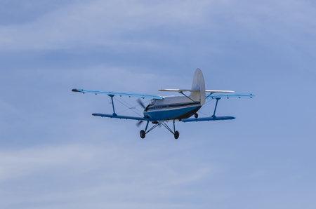 pilot light: AIRPLANE ANTONOV AN - 2. The An-2 used as a light utility transport, parachute drop aircraft Editorial