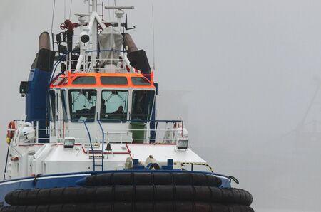 prow: SEASCAPE WITH TUG