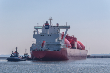 GAS CARRIER IN PORT