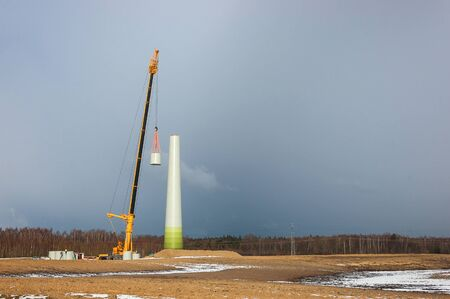 WIND FARM - the construction of a wind turbine prefabricated