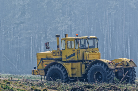 VEHICLE IN THE WILD - Machine for forestry 版權商用圖片