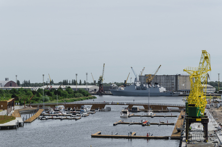 SEAPORT - Marina, Port Crane and Warship