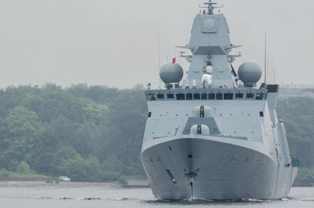 FRIGATE - The Danish warship leaves the port