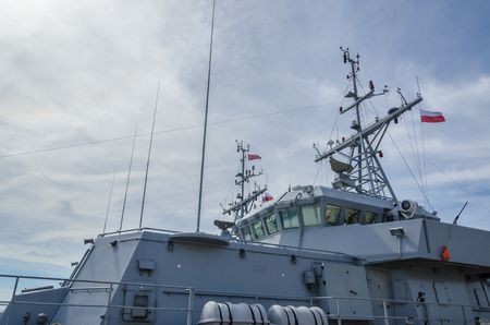 WARSHIP - Command post at the Norwegian warship Stock Photo