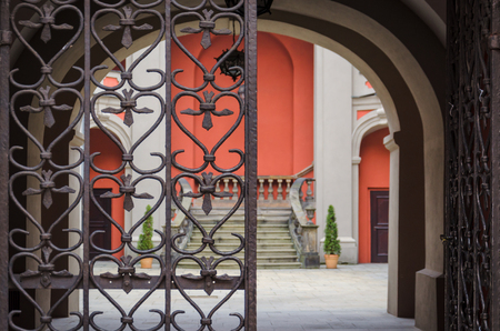 poznan: IRON GATE TO THE YARD - Gate to the tenement house in the old town of Poznan