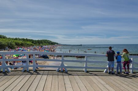the furlough: USTRONES OF THE SEA, WEST POMERANIAN  POLAND: Summer holiday on the Baltic Sea Editorial