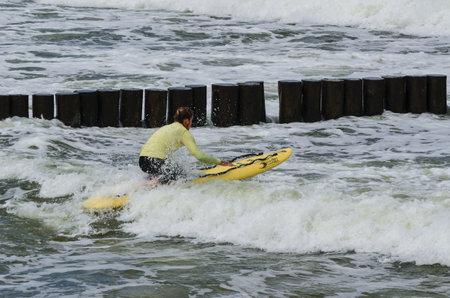 salvavidas: SEACOAST, BALTIC SEA - POLAND: 2017 - Lifeguard during water training