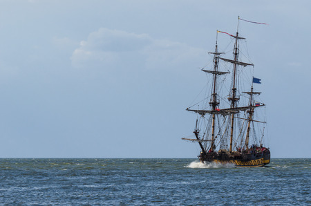 SAILING VESSEL - Replica of an old sailing ship Stock Photo