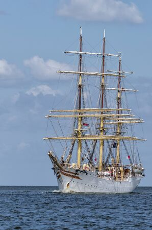 SAILING VESSEL - Norwegian frigate SORLANDET on the sea