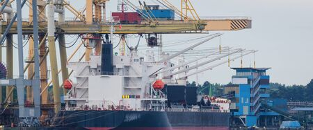 GENERAL CARGO - Ship at the transshipment quay