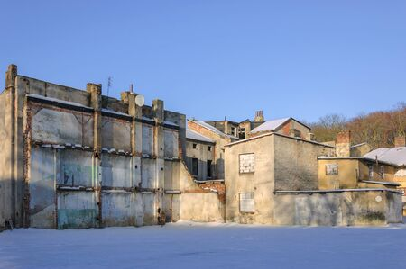 CITYSCAPE - Old abandoned houses for demolition Foto de archivo