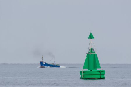 BUOY - Navigation mark on the shipping lane Stockfoto