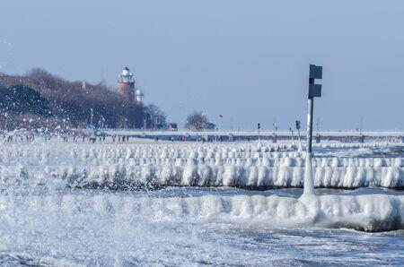WINTER - Icy beach and sea coast