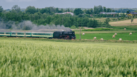 STEAM LOCOMOTIVE - A historical train on the trail